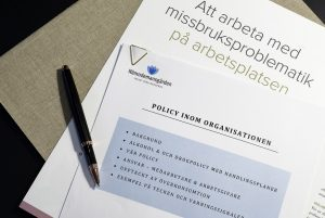 Informationsblad om att arbeta med missbruksproblematik på arbetsplatsen